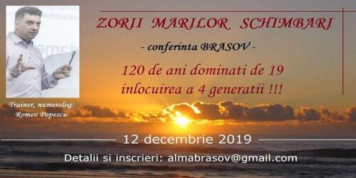 Zorii marilor schimbari 12.12.2019